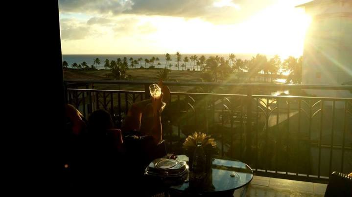 Sunsets and Wine in Hawaii...