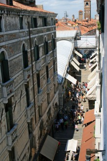 View of the Rialto Bridge