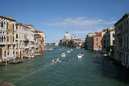 Crossing the Pont dell'Accademia