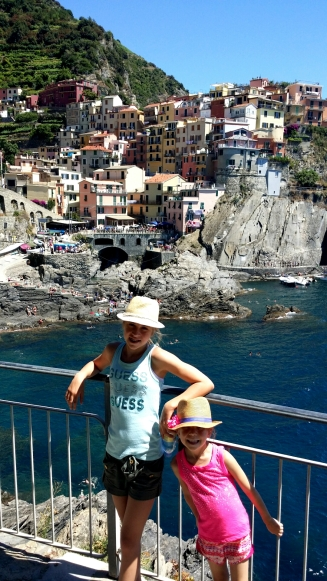 The girls in Manarola