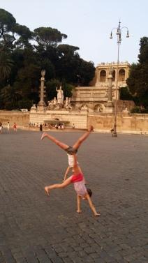 Cartwheels in Piazza del Popolo