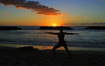 Lagoon Yoga at Sunset