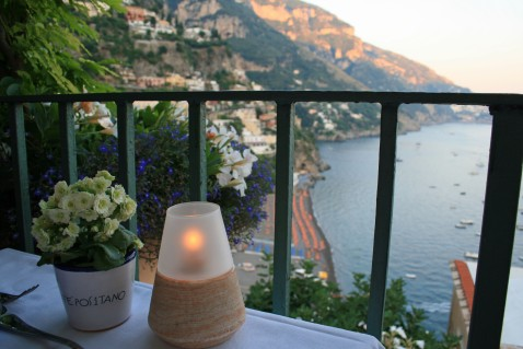 View from Caffe Positano