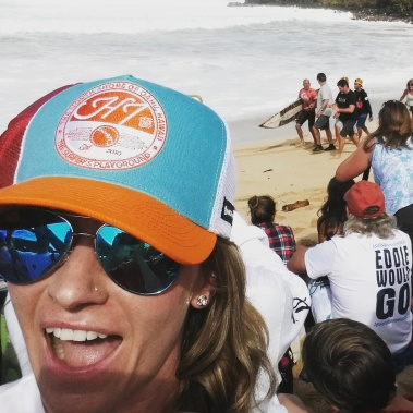 Me...and Kelly Slater!!! The Eddie 2016, Oahu