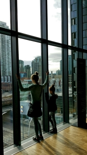 The views from massive windows, National Music Centre, Calgary